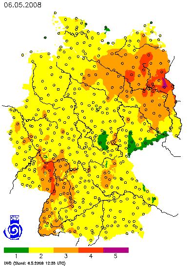 Waldbrandwarnstufe vom 06.05.08
