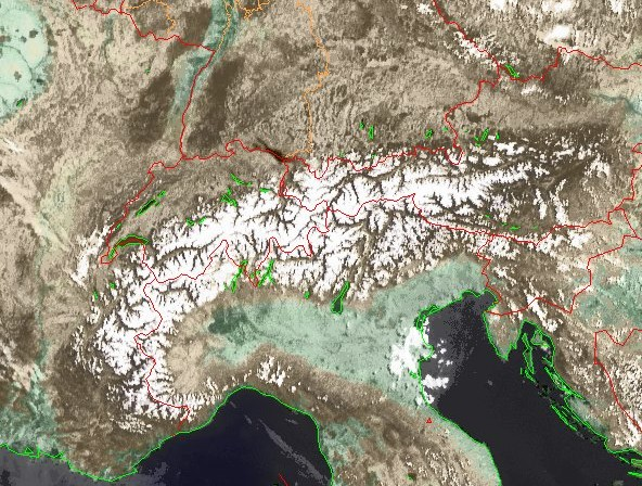 Die Alpen Anfang Mai 2008