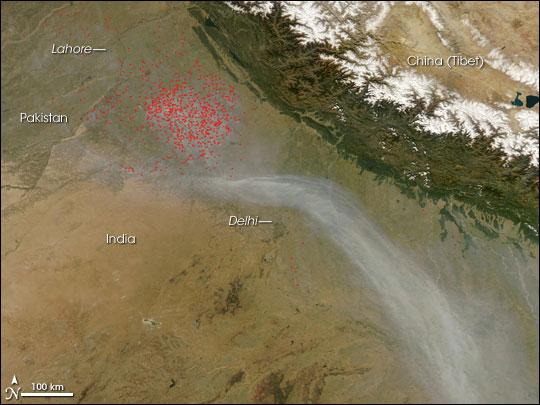 Feuer in Indien