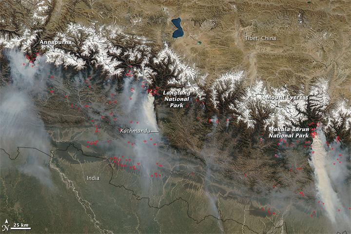 Waldbrände in Nepal