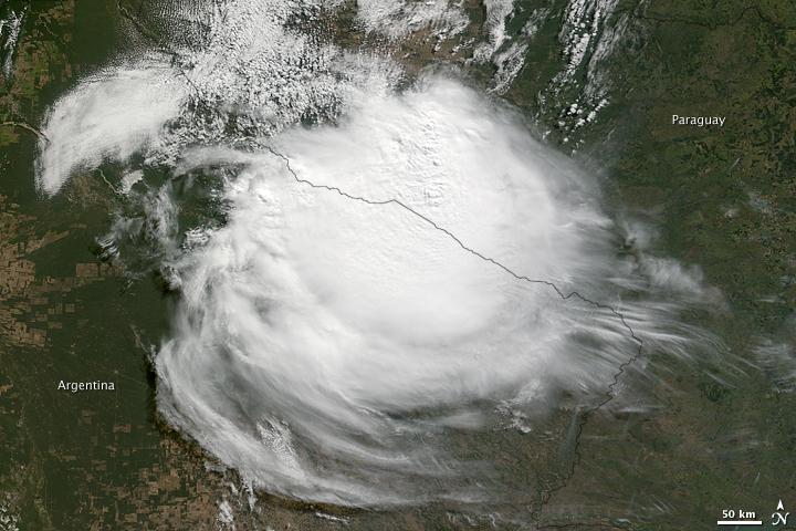 Tropensturm in Argentinien