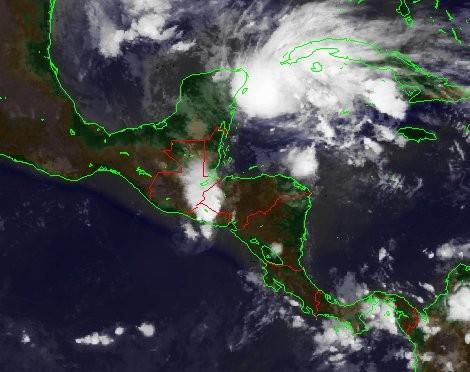 Satellitenbild vom 08.11.2009