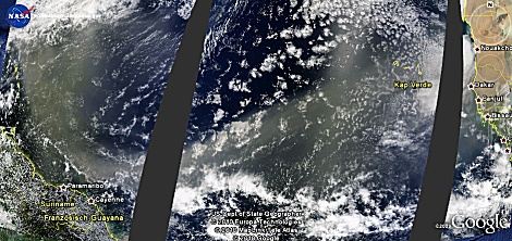 Saharastaub überquert den Atlantik