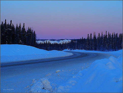 Alaska Highway Sunset