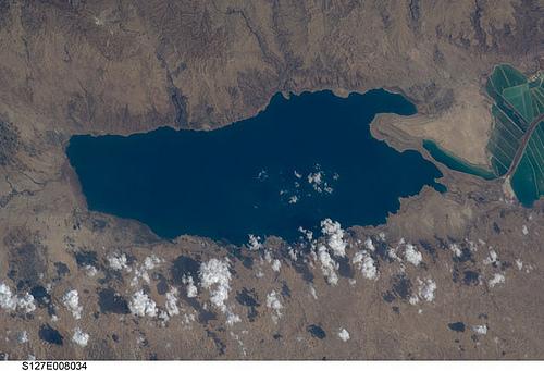 Totes Meer, aufgenommen von der ISS