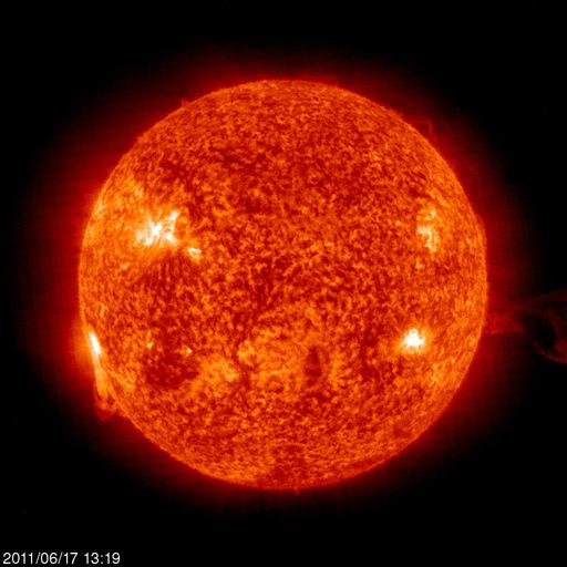 Die Sonne am 17.06.2011
