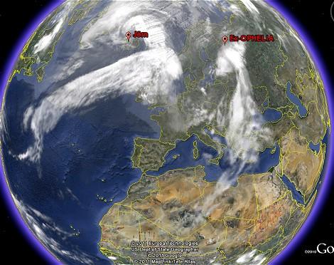 Satellitenbild vom 09.10.2011