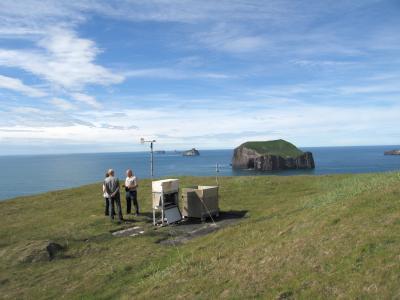 Messstation auf der Insel Heimaey