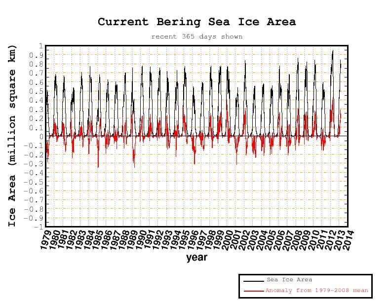 Eisbedeckung im Beringmeer
