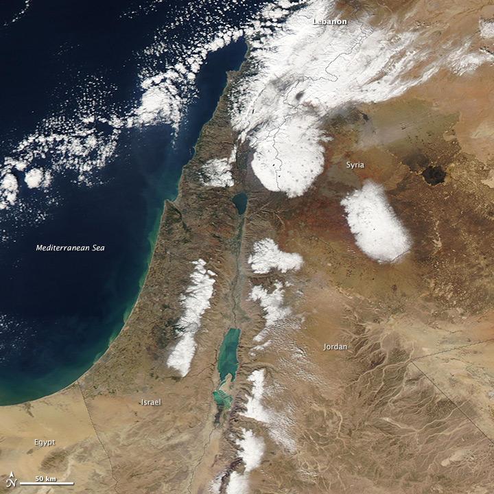 Schnee im Nahen Osten