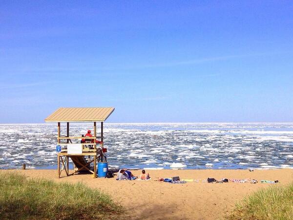 Eis auf dem Lake Superior