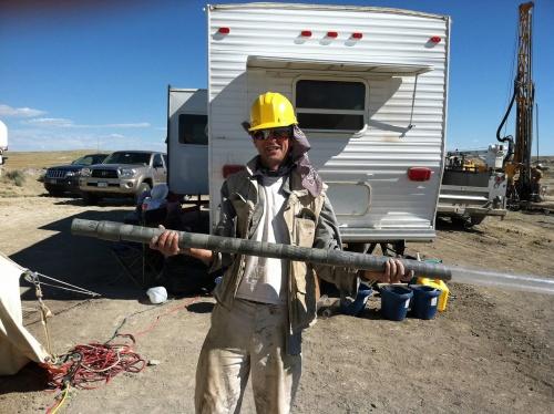 Sedimentbohrkern Wyoming