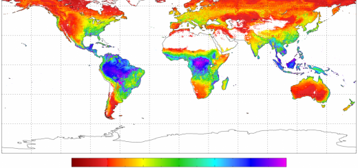 Global Average evapotranspiration 2000-2006