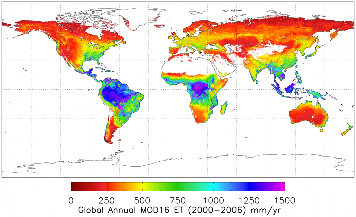 Global Average evapotranspiration 2000-2006