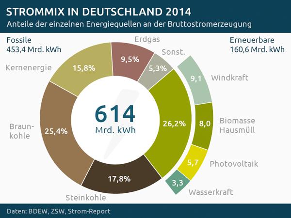 Bruttostromerzeugung Deutschland 2014