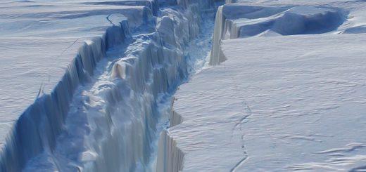 Riss im Pine-Island-Gletscher