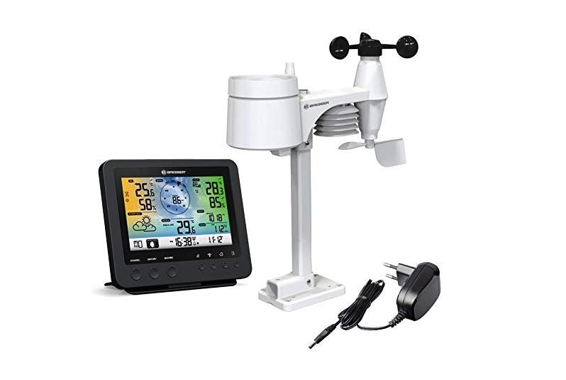 Bresser WLAN Wetterstation mit 5-in-1-Profi-Sensor und Smartphone-App