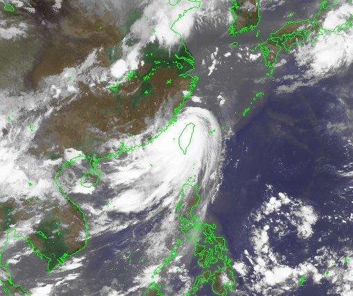Taifun Kalmaegi über Taiwan